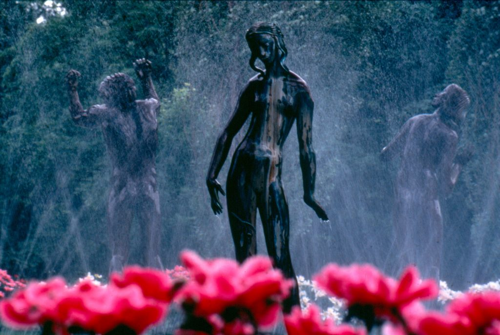 Orpheus Fountain (1937) by Carl Milles on the Cranbrook Academy of Art campus (Photo: Courtesy Cranbrook Archives).