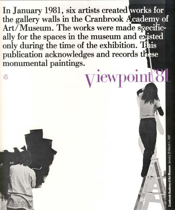 Cranbrook Art Museum Viewpoint '81 brochure, 1981