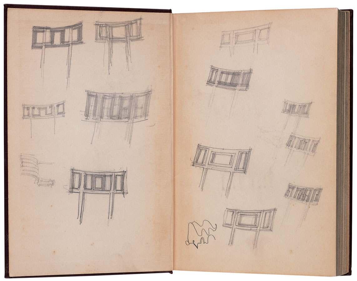 Cranbrook Art Museum Cupola Schematic Eero Saarinen Drawings For Furniture Designs Kingswood School
