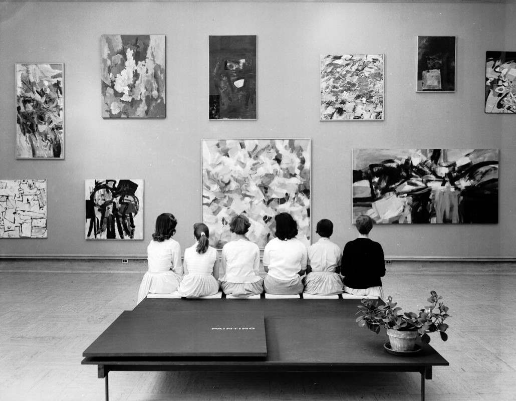 1957 Annual Exhibition of Student Work. Photograph by Harvey Croze. © Cranbrook Archives (AA2745)